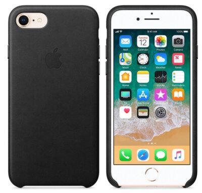 Чехол Apple Leather Case для iPhone 8/7/SE 2020 Black 2