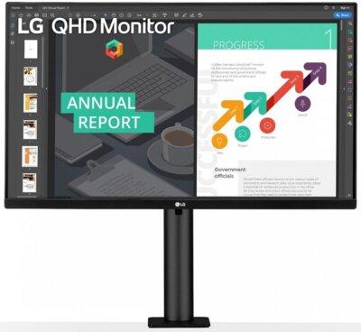 """Монитор 27"""" LG QHD Ergo (27QN880-B) Black 1"""