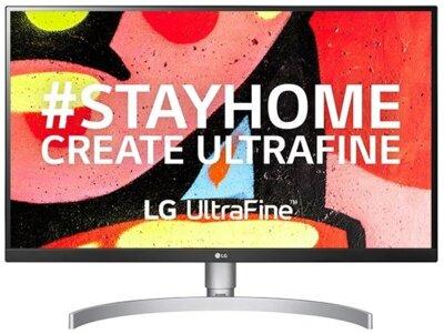 """Монітор 27"""" LG UltraFine (27UL650-W) White 1"""