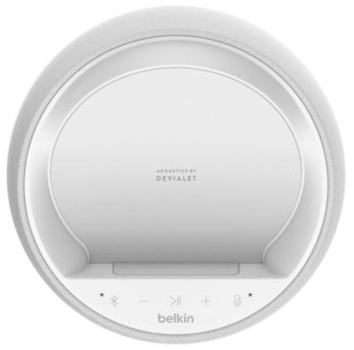 Смарт спікер Belkin + бездротова зарядка Devialet Soundform Elite, white 5