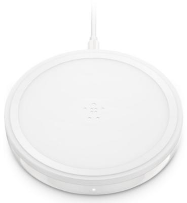 Беспроводное зарядное устройство Belkin Pad Wireless Charging Qi, 10W, white 1
