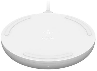 Бездротовий зарядний пристрій Belkin Pad Wireless Charging Qi, 10W, no PSU, white 2