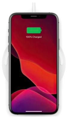 Бездротовий зарядний пристрій Belkin Pad Wireless Charging Qi, 10W, no PSU, white 5