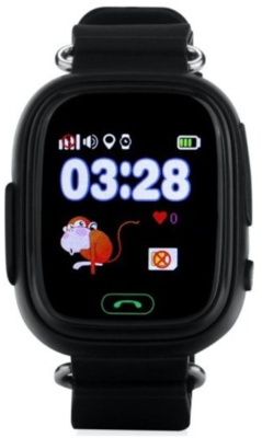 Дитячий телефон-годинник з GPS трекером GOGPS К04 чорний 2