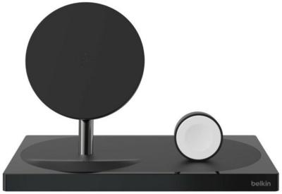 Беспроводное ЗУ Belkin 2-in-1 Wireless Pad/Stand/Apple Watch Black (F8J234VFBLK-APL) 1