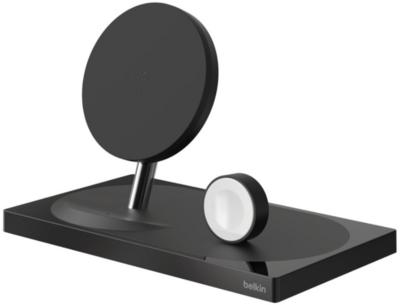 Беспроводное ЗУ Belkin 2-in-1 Wireless Pad/Stand/Apple Watch Black (F8J234VFBLK-APL) 2