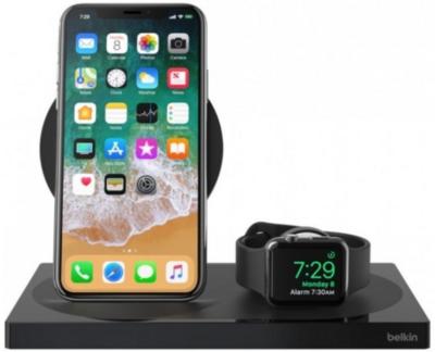 Беспроводное ЗУ Belkin 2-in-1 Wireless Pad/Stand/Apple Watch Black (F8J234VFBLK-APL) 4