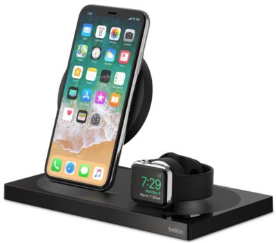 Беспроводное ЗУ Belkin 2-in-1 Wireless Pad/Stand/Apple Watch Black (F8J234VFBLK-APL) 5