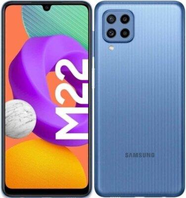 Смартфон Samsung Galaxy M22 4/128GB (SM-M225FLBGSEK) Light Blue 1