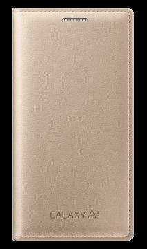 Купить Чехол Samsung Flip Cover EF-FA300BFEGRU Gold для Galaxy A3