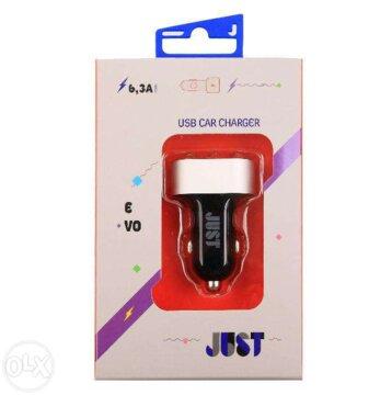 Купить Зарядное устройство JUST Evo Trio USB Car Charger CCHRGR-V-BLCK Black