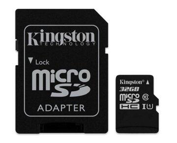 Купить Карта памяти Kingston microSDHC 32GB Class 10 UHS-I Canvas Select