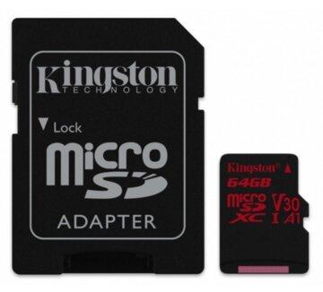 Купить Карта памяти Kingston microSDXC 64GB Class 10 UHS-I U3 Canvas React