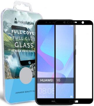 Купити Захисне скло MakeFuture Full Cover Glue для Huawei Y6 2018 Black