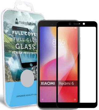 Купить Защитное стекло MakeFuture Full Cover Glue для Xiaomi Redmi 6 Black