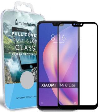Купить Защитное стекло MakeFuture Full Cover Glue для Xiaomi Mi 8 Lite Black
