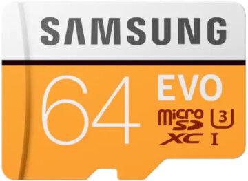 Купити Карта пам'яті Samsung microSDXC 64GB EVO Class 10 MB-MP64GA/APC