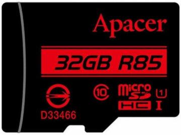 Купити Карта пам'ятi APACER microSDHC 32GB UHS-I U1 + adapter